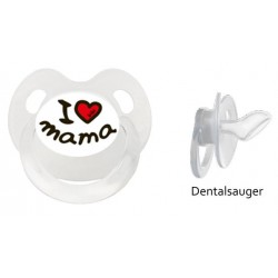 Dentalnuggi mit Ring, 16 + Monate: I love Mama