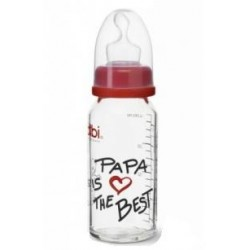 Bibi Glasflasche Papa is the best, 120 ml