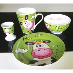 "Geschirr-Set ""Moo Cow"""