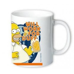 Simpsons Tasse: Work for Duff
