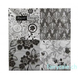Paper Design Servietten: black and white