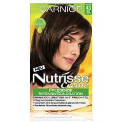 Garnier Nutrisse Creme (Intensiv Coloration), Goldbraun (Cappuccino), Nr. 43