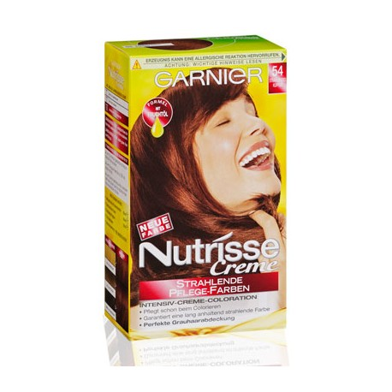 Garnier Nutrisse Creme (Intensiv Coloration), Strahlendes Kupfer (54)