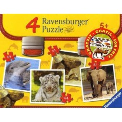 Ravensburger Puzzle-Set Wilde Tierkinder