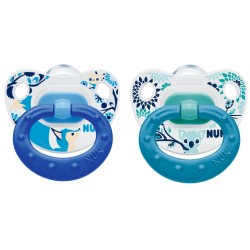 NUK Happy Days Nuggi-Set, ab 1. Tag, mit Ring